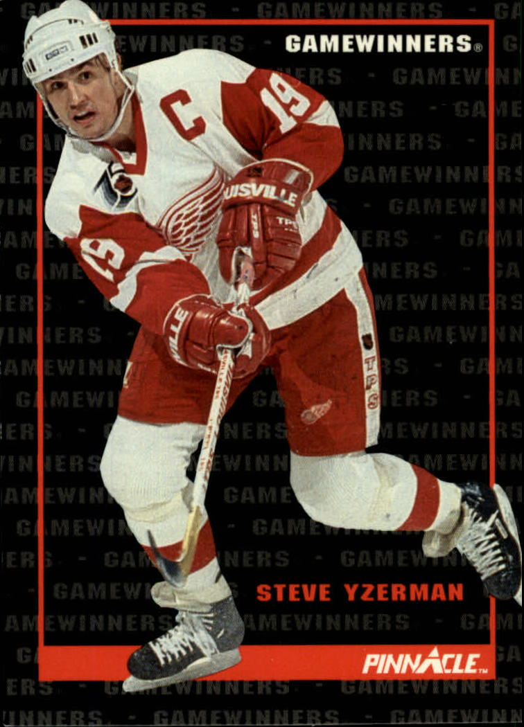 1992-93 Pinnacle #258 Steve Yzerman GW