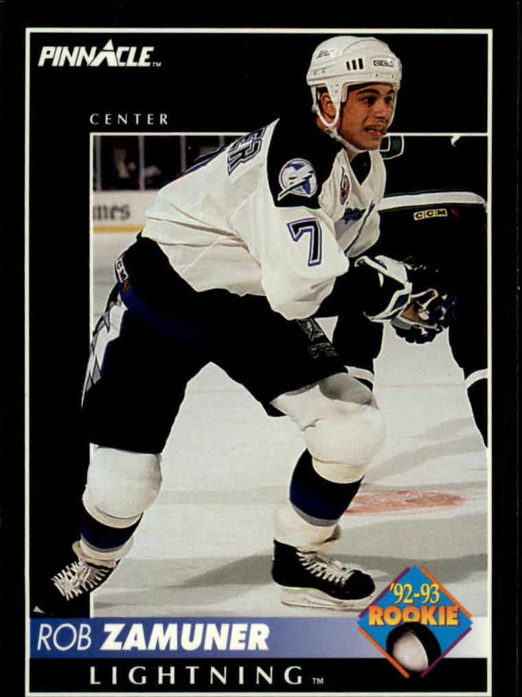 1992-93 Pinnacle #414 Rob Zamuner RC