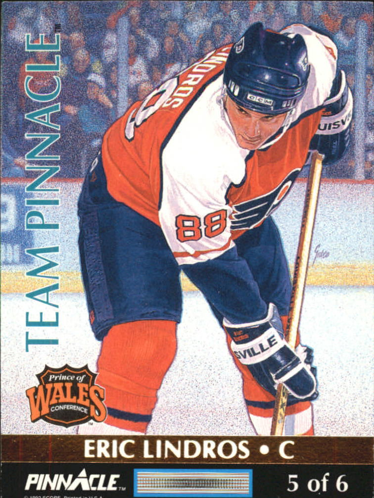 1992-93 Pinnacle Team Pinnacle #5 Eric Lindros/Wayne Gretzky back image