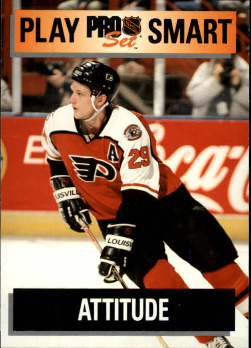 1992-93 Pro Set #269 Terry Carkner PS/Philadelphia Flyers/Attitude