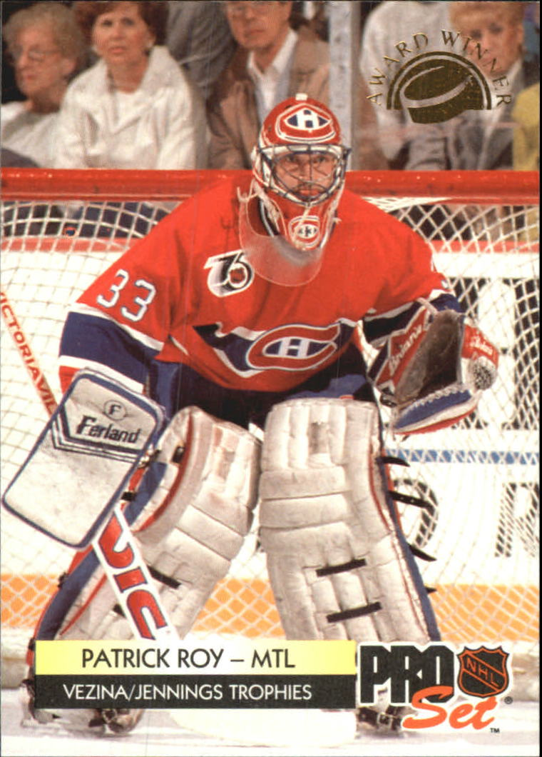 1992-93 Pro Set Award Winners #CC2 Patrick Roy