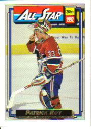 1992-93 Topps Gold #263G Patrick Roy AS front image