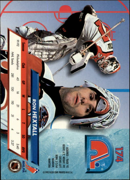 1992-93 Ultra #174 Ron Hextall back image
