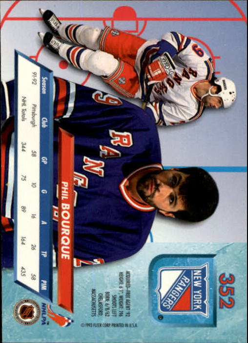 1992-93 Ultra #352 Phil Bourque back image