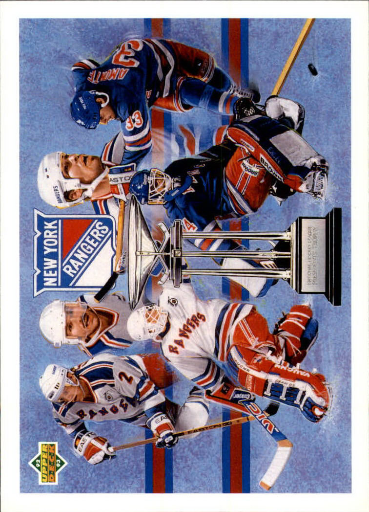 1992-93 Upper Deck #34 Presidents Trophy/Rangers