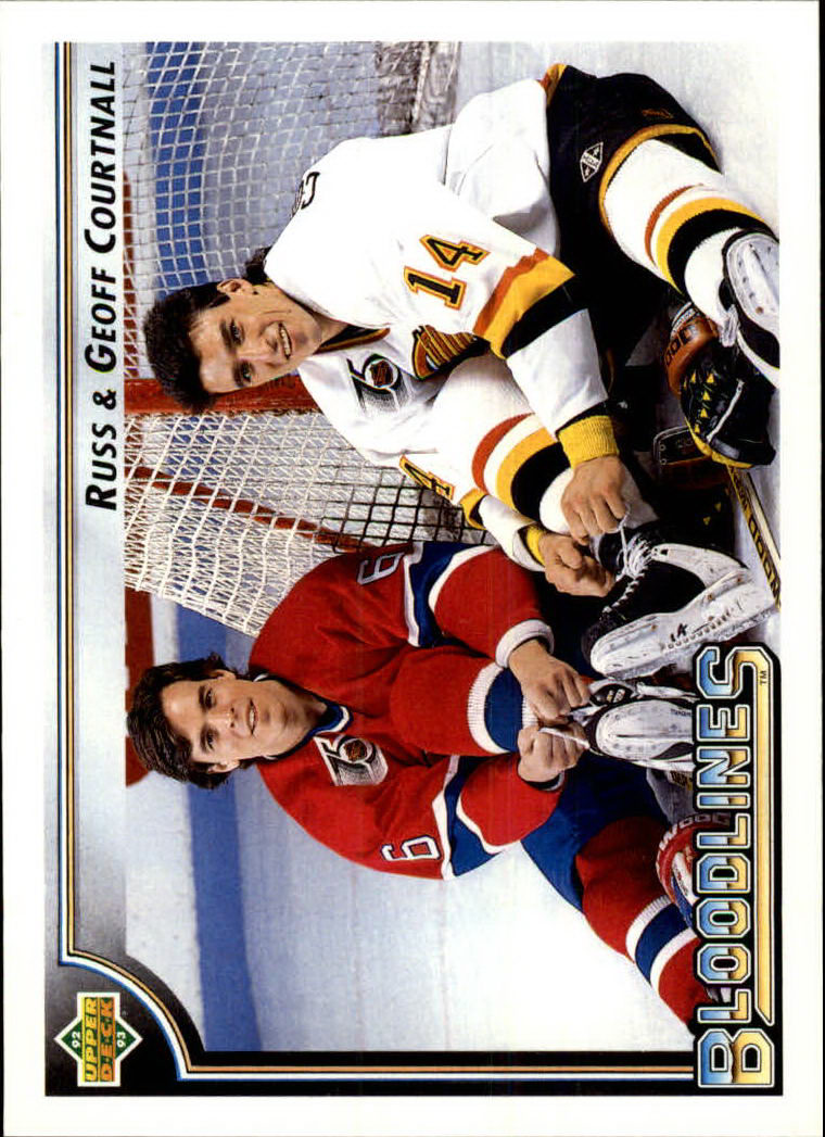 1992-93 Upper Deck #39 Geoff Courtnall BL/Vancouver Canucks/Russ Courtn
