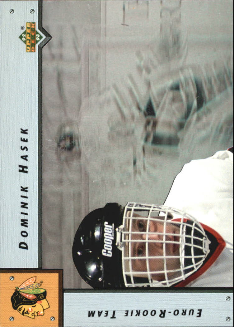 1992-93 Upper Deck Euro-Rookie Team #ERT3 Dominik Hasek