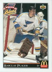 1992-93 Blues UD Best of the Blues #24 Barclay Plager