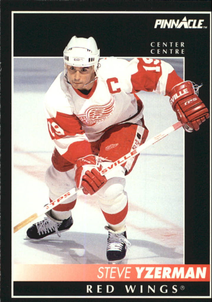 1992-93 Pinnacle French #350 Steve Yzerman