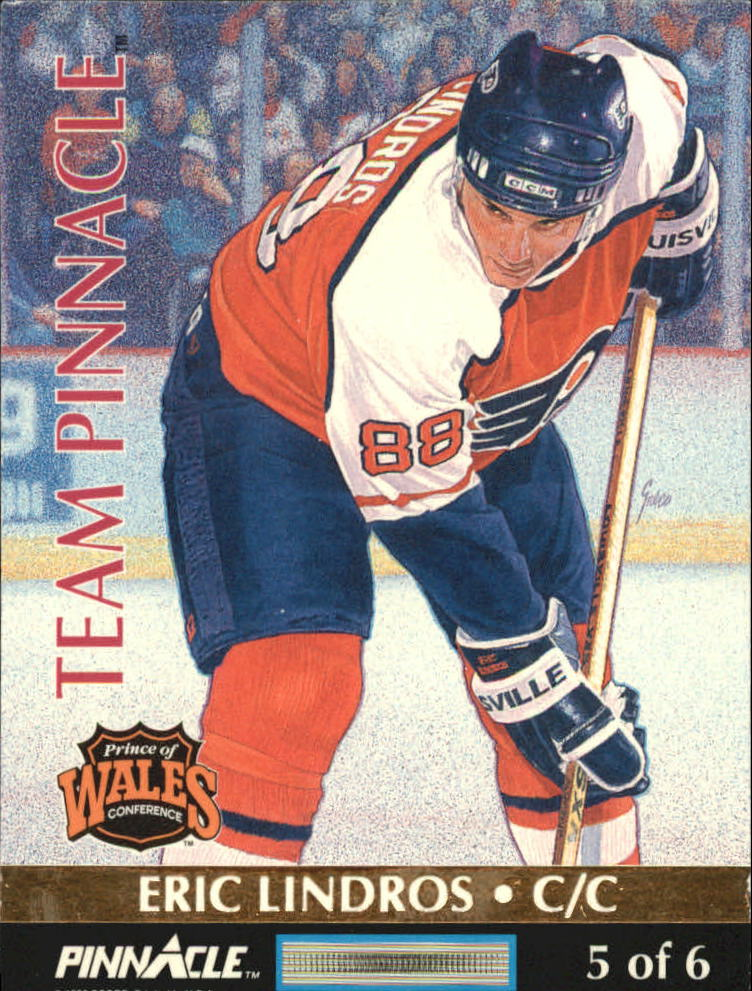 1992-93 Pinnacle Team Pinnacle French #5 Eric Lindros/Wayne Gretzky back image