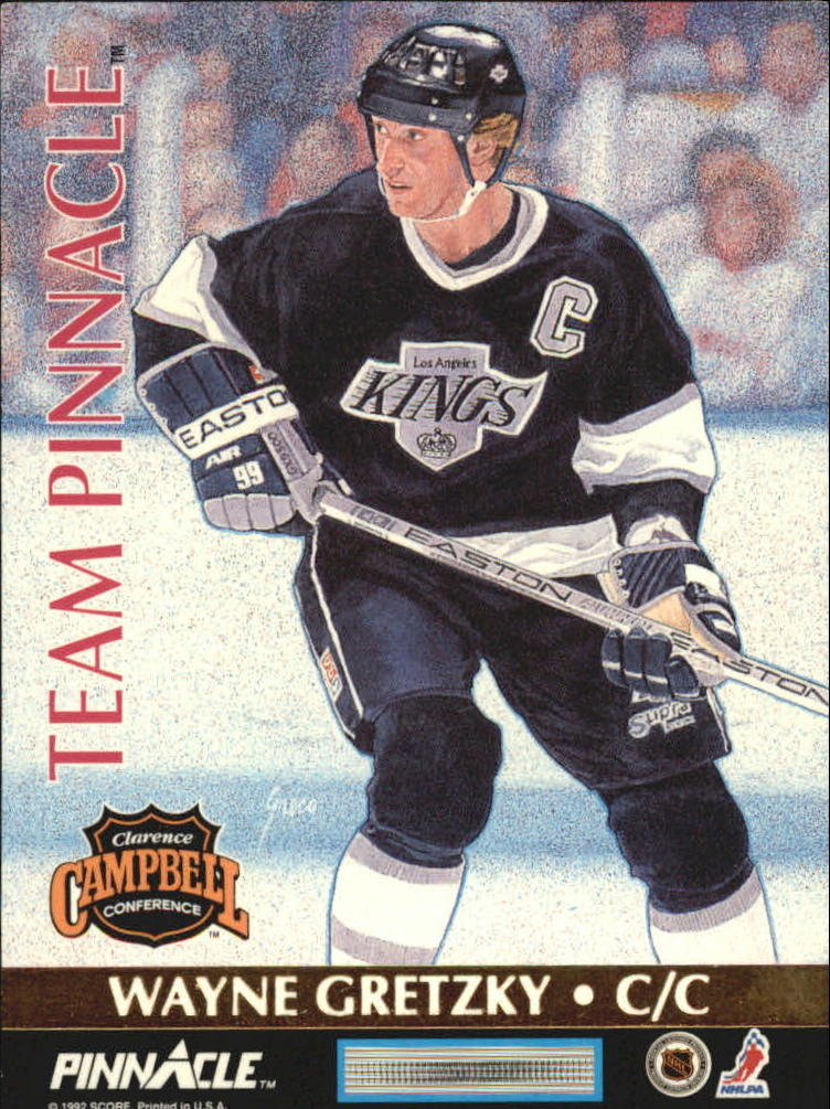 1992-93 Pinnacle Team Pinnacle French #5 Eric Lindros/Wayne Gretzky