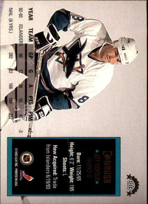 1993-94 Donruss #303 Jeff Norton back image