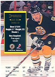 1993-94 Donruss #403 David Reid back image