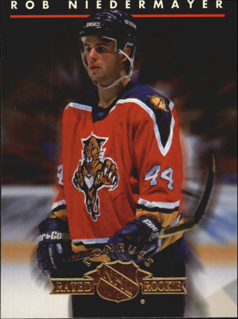1993-94 Donruss Rated Rookies #4 Rob Niedermayer