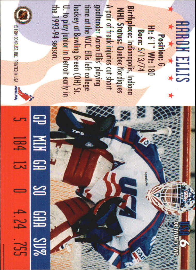 1993-94 Donruss Team USA #6 Aaron Ellis