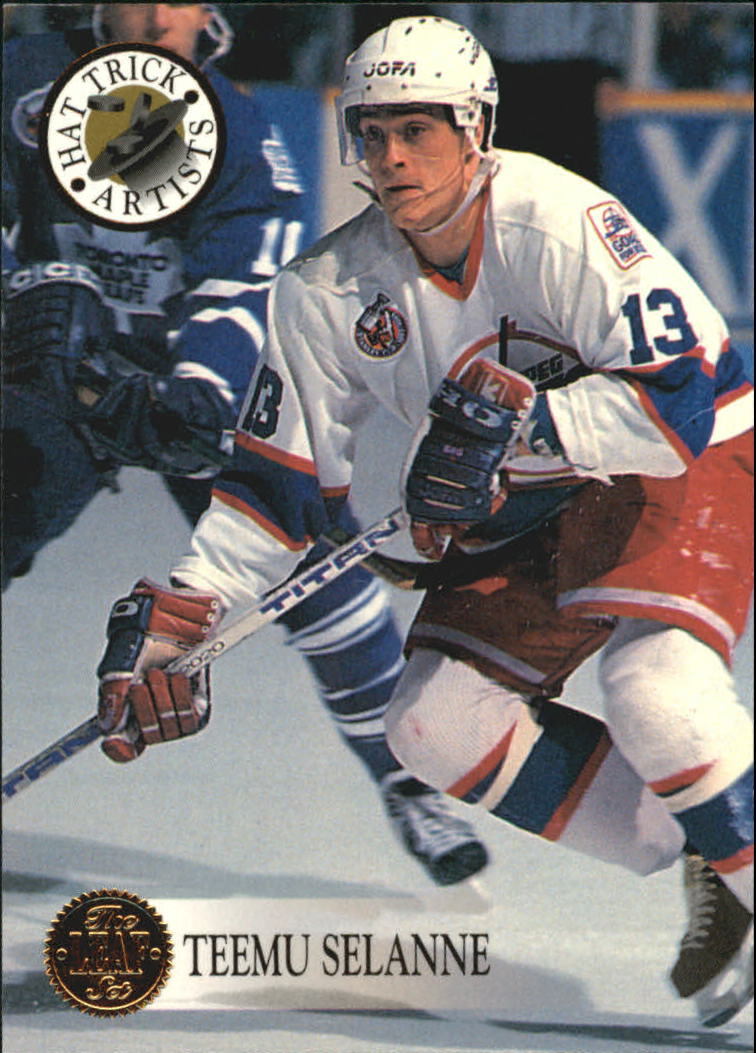 1993-94 Leaf Hat Trick Artists #3 Teemu Selanne