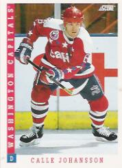 1993-94 Score #76 Calle Johansson