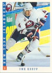 1993-94 Score #87 Uwe Krupp