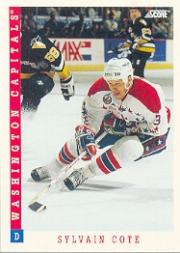 1993-94 Score #92 Sylvain Cote