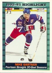 1993-94 Score #447 Mike Gartner HL