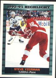 1993-94 Score #448 Steve Yzerman HL