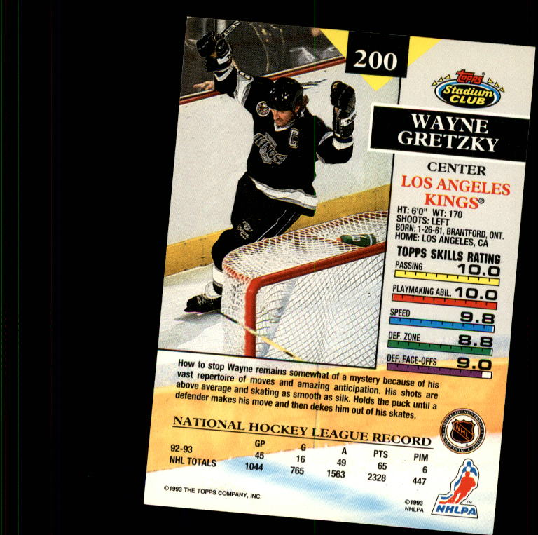 1993-94 Stadium Club #200 Wayne Gretzky