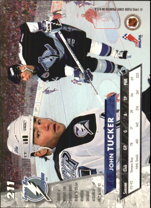 1993-94 Ultra #211 John Tucker back image
