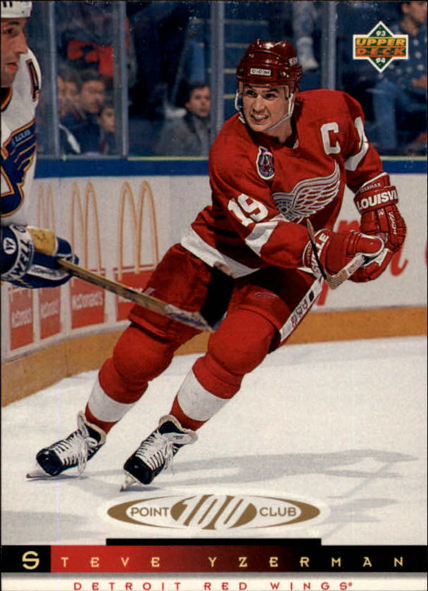 1993-94 Upper Deck #227 Steve Yzerman 100