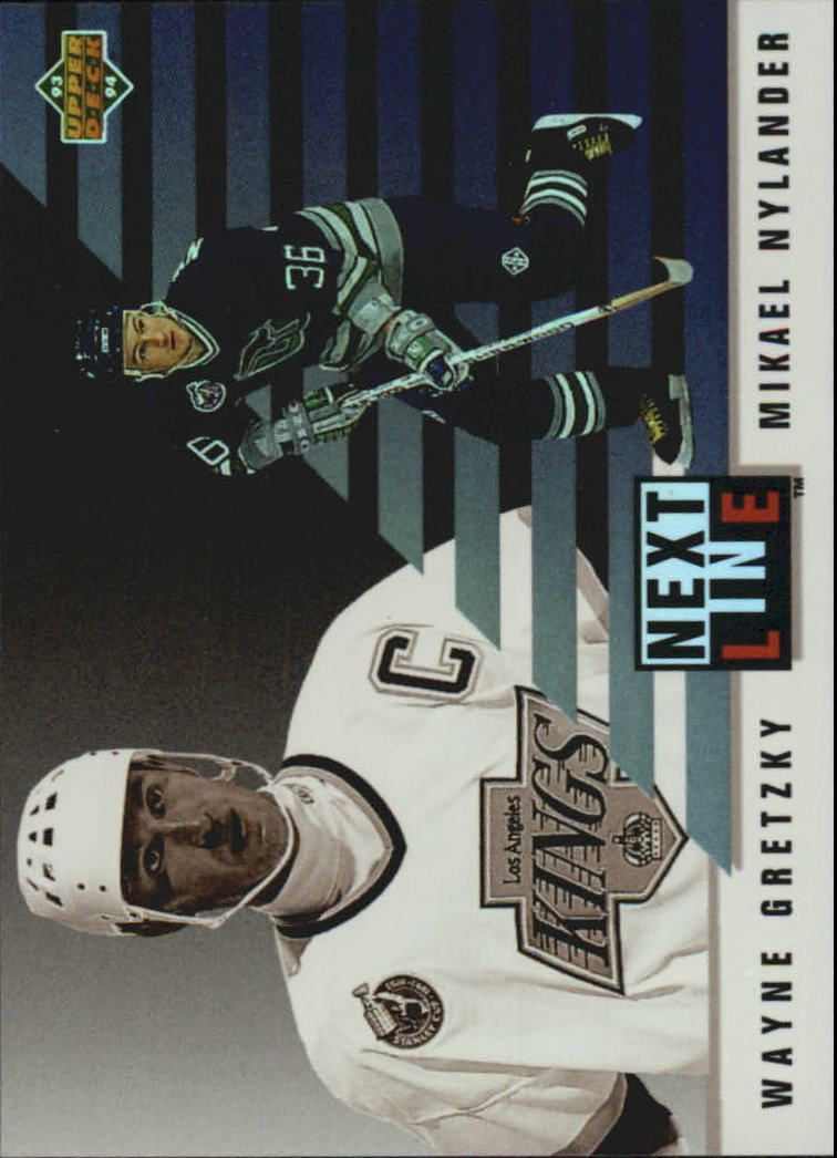 1993-94 Upper Deck Next In Line #NL1 Wayne Gretzky/Michael Nylander
