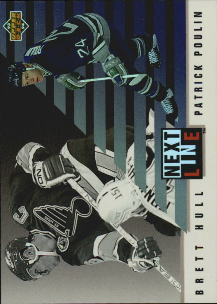 1993-94 Upper Deck Next In Line #NL2 Brett Hull/Patrick Poulin