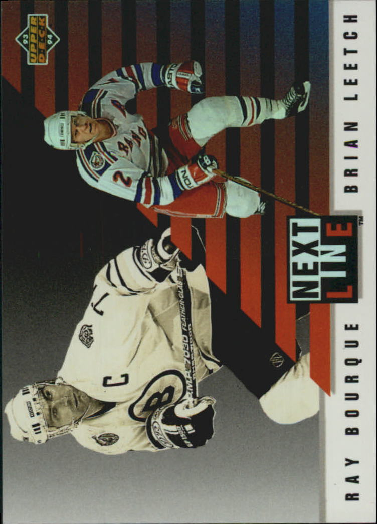 1993-94 Upper Deck Next In Line #NL4 Ray Bourque/Brian Leetch