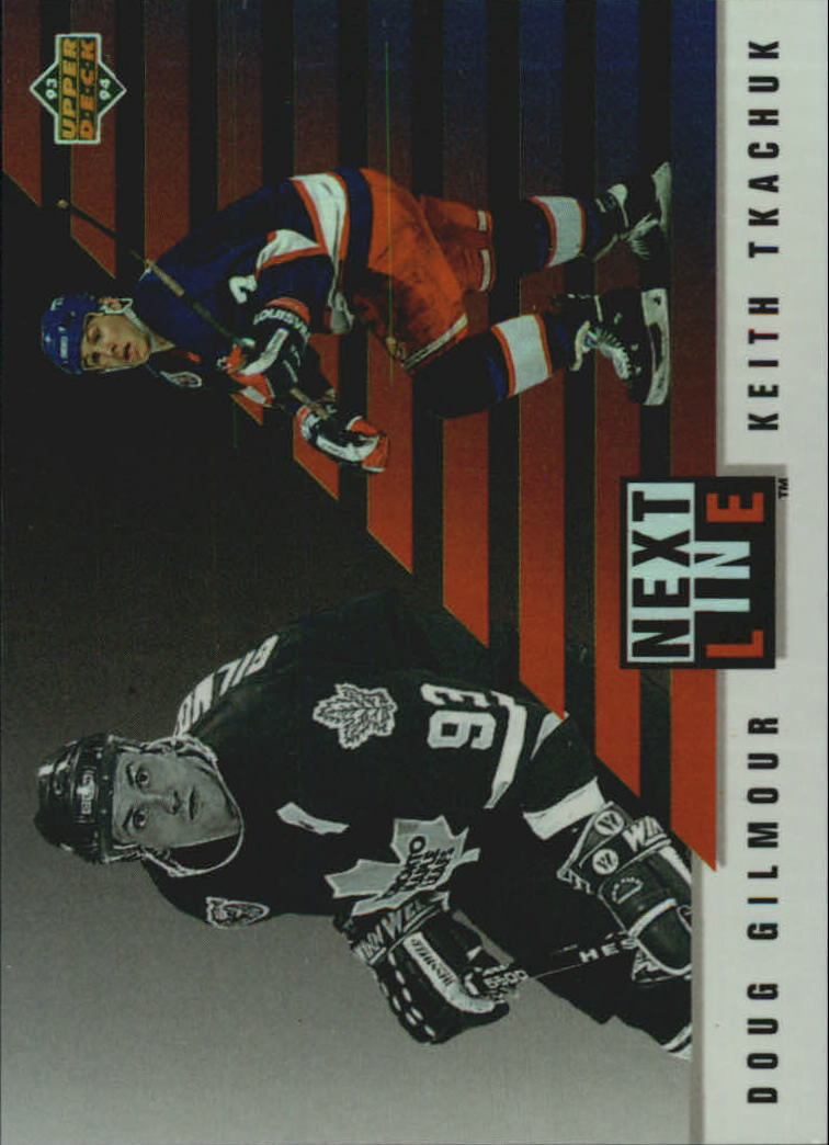 1993-94 Upper Deck Next In Line #NL5 Doug Gilmour/Keith Tkachuk
