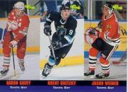 1994 Classic Tri-Cards #T64 Aaron Gavey/T65Brent Gretzky/T66Jason Weimer