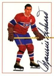 1994 Parkhurst Missing Link Autographs #2 Maurice Richard