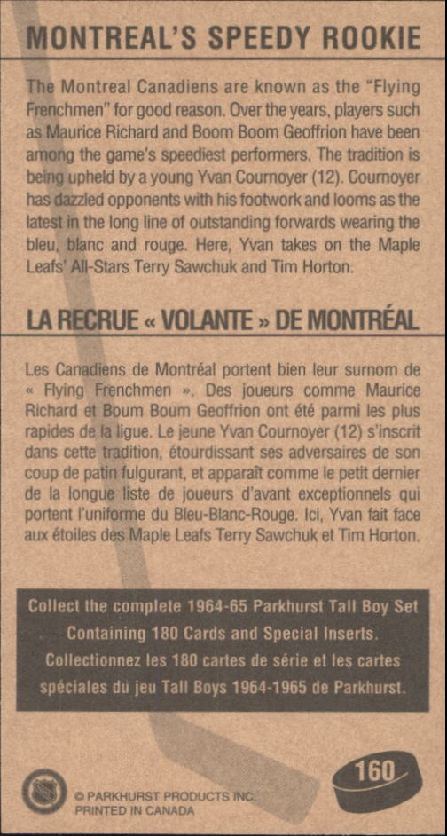 1994 Parkhurst Tall Boys #160 Montreal's Speedy/Rookie