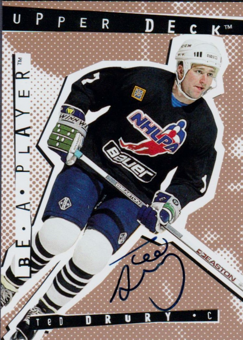 1994-95 Be A Player Autographs #34 Ted Drury