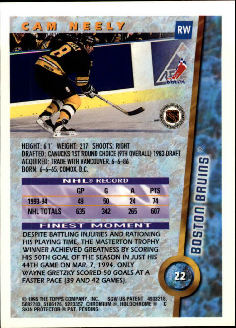 1994-95 Finest #22 Cam Neely back image