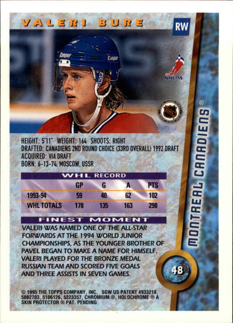 1994-95-Finest-Hockey-Cards-Pick-From-List