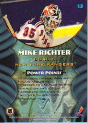 1994-95 Finest Bowman's Best #B13 Mike Richter back image