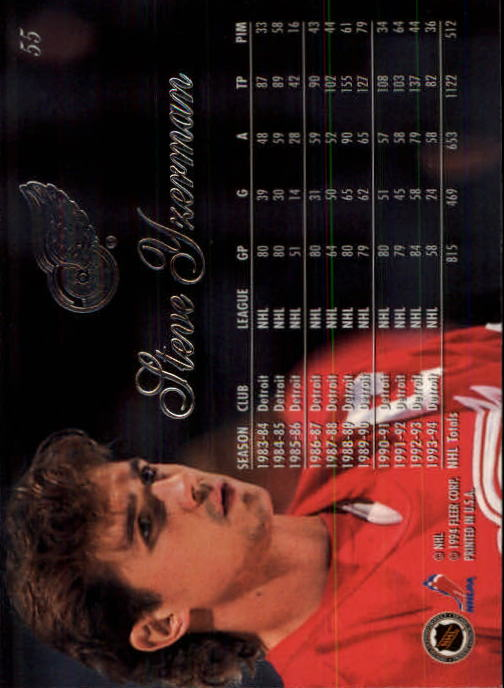 1994-95 Flair #55 Steve Yzerman back image
