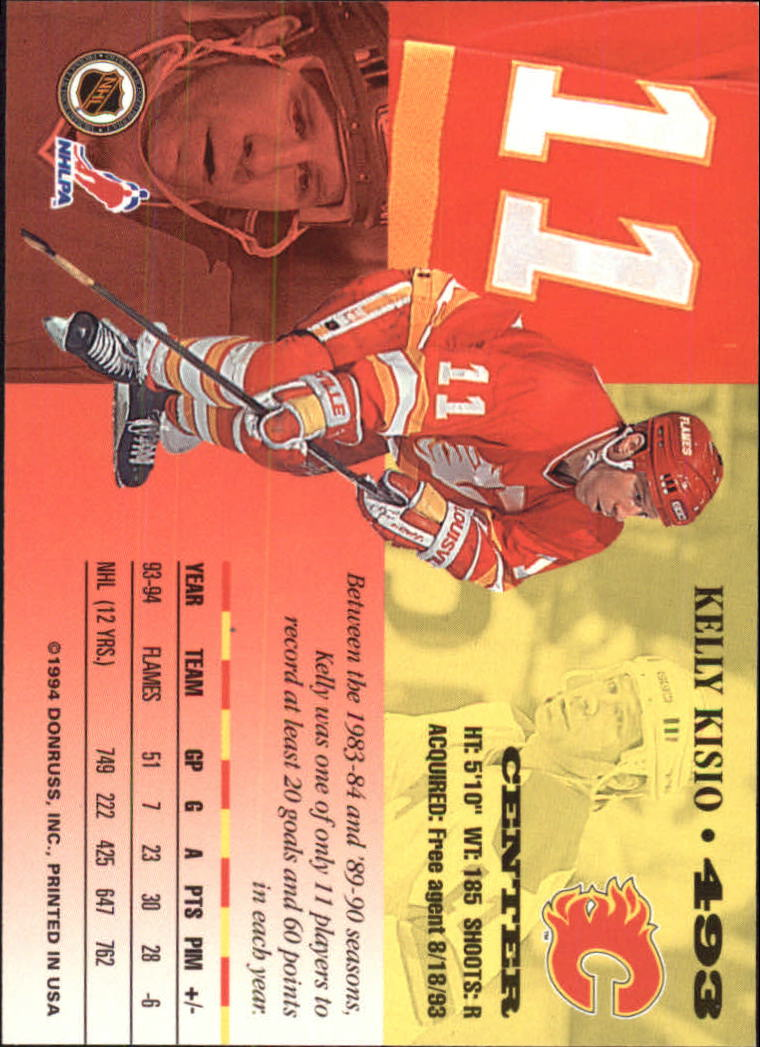 1994-95 Leaf #493 Kelly Kisio back image