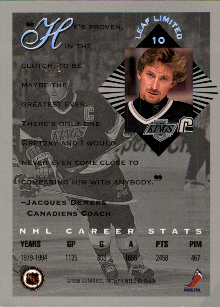 1994-95 Leaf Limited #10 Wayne Gretzky back image