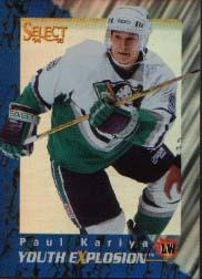 1994-95 Select Youth Explosion #YE5 Paul Kariya