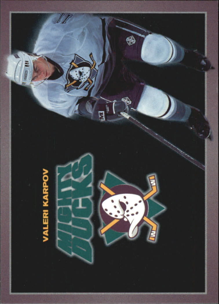 1994-95 Ducks Carl's Jr. #11 Valeri Karpov