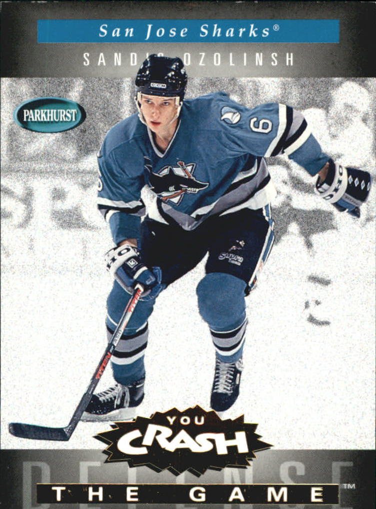 1994-95 Parkhurst Crash the Game Gold #21 Sandis Ozolinsh