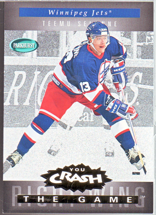 1994-95 Parkhurst Crash the Game Gold #26 Teemu Selanne