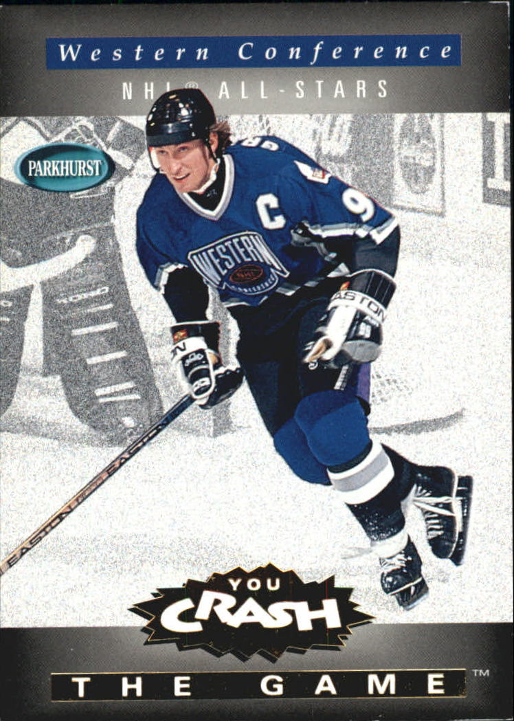 1994-95 Parkhurst Crash the Game Gold #28 Wayne Gretzky/Western Conference