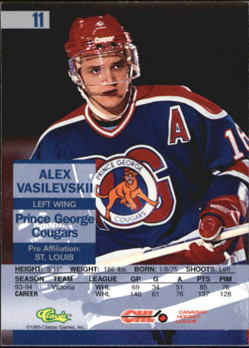 1995 Images Gold #11 Alex Vasilevskii