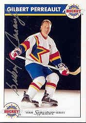 1995-96 Zeller&#039;s Masters of Hockey Signed #5 Gilbert Perreault