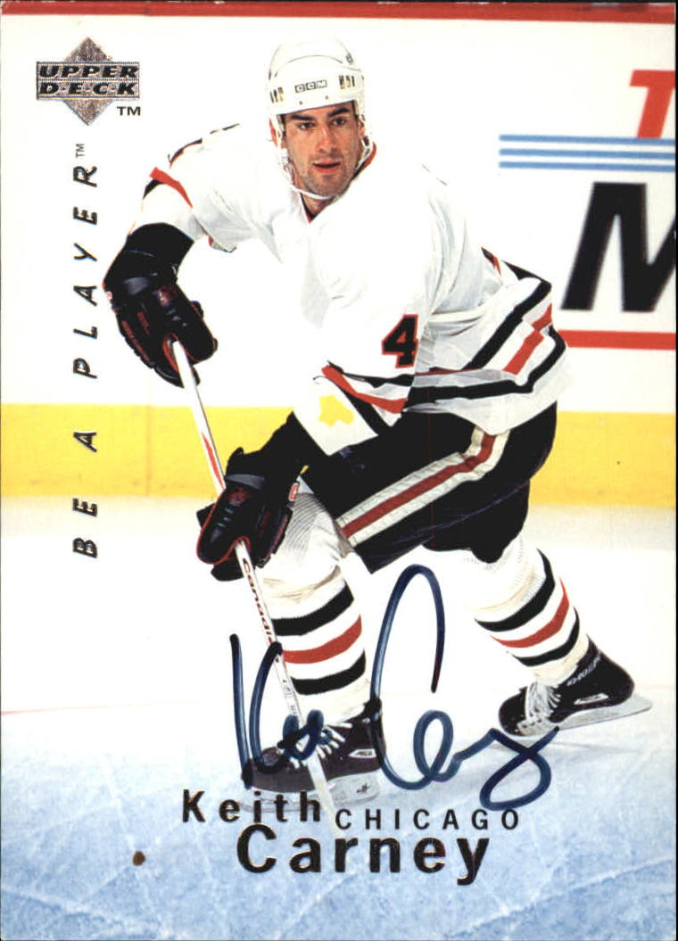 1995-96 Be A Player Autographs #S9 Keith Carney